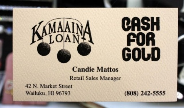 Kamaaina Loan Cash For Gold Retail Store