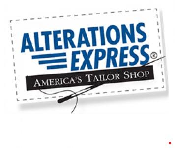 With this coupon save 10 on any alteration