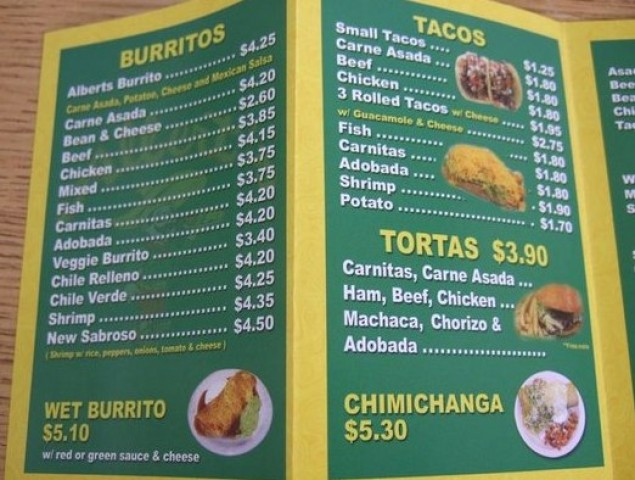 Alberts Mexican Food