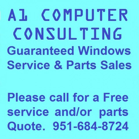 A1 Computer - MS Windows Repairs and Sales