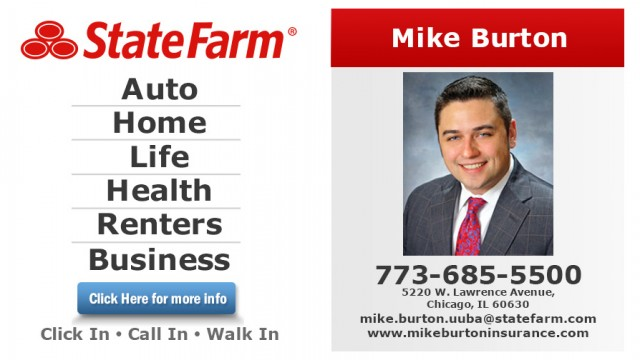 Mike burton state farm insurance agent 5520 w lawrence for Renters insurance chicago reviews