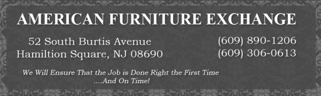 American furniture exchange 52 s burtis ave trenton nj for Furniture xchange new jersey