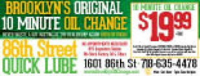 86Th St Quick Lube - 10 OFF Brake Special-front or rear per axle